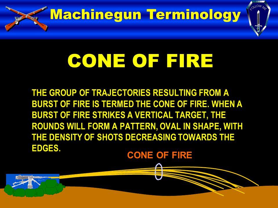 CONE OF FIRE Machinegun Terminology