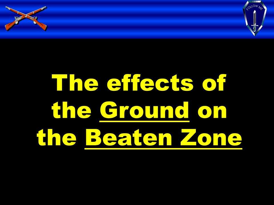 The effects of the Ground on the Beaten Zone