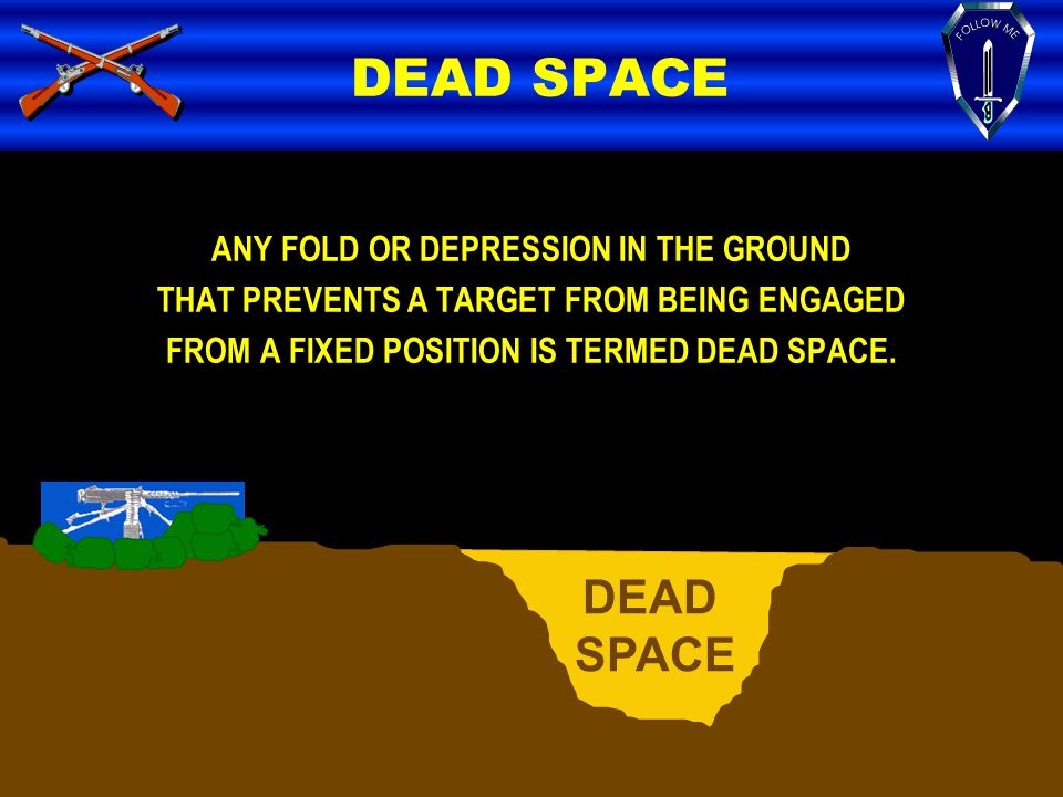 DEAD SPACE DEAD SPACE ANY FOLD OR DEPRESSION IN THE GROUND