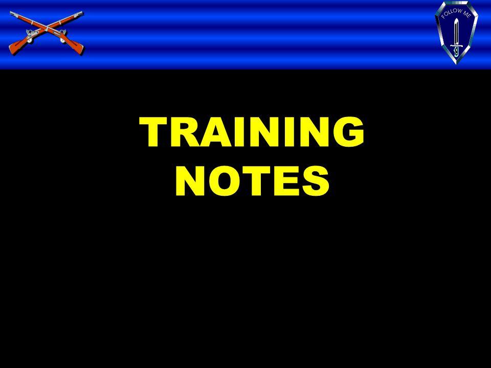 TRAINING NOTES