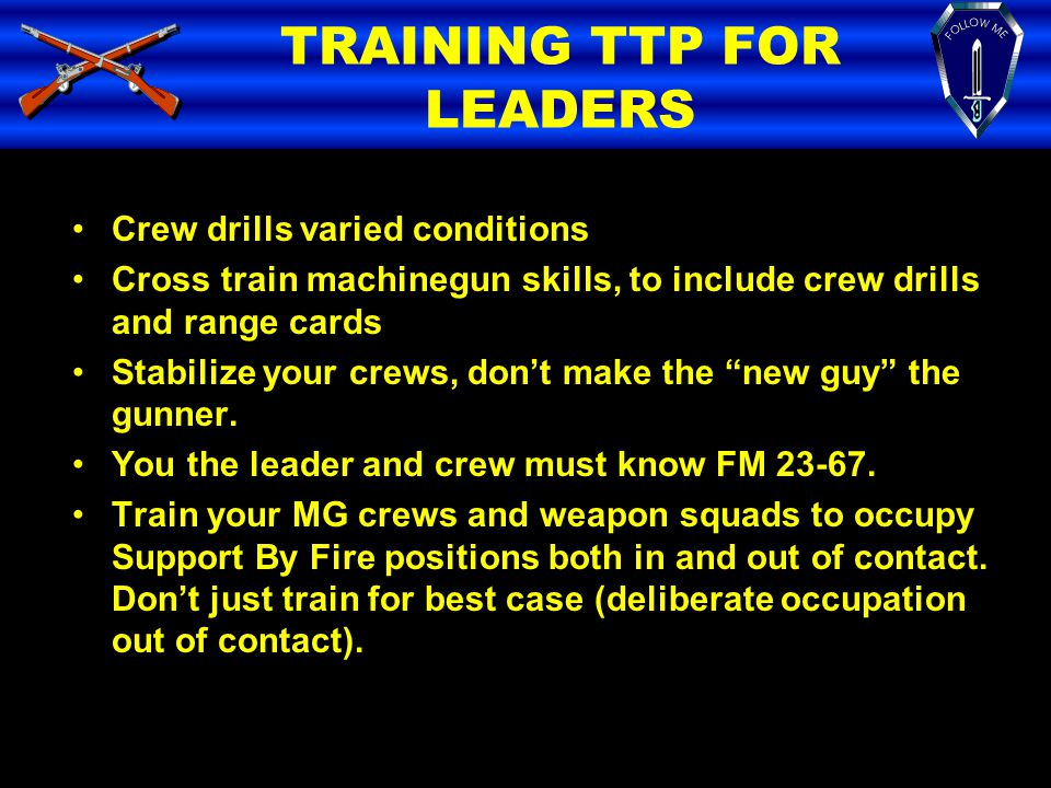 TRAINING TTP FOR LEADERS