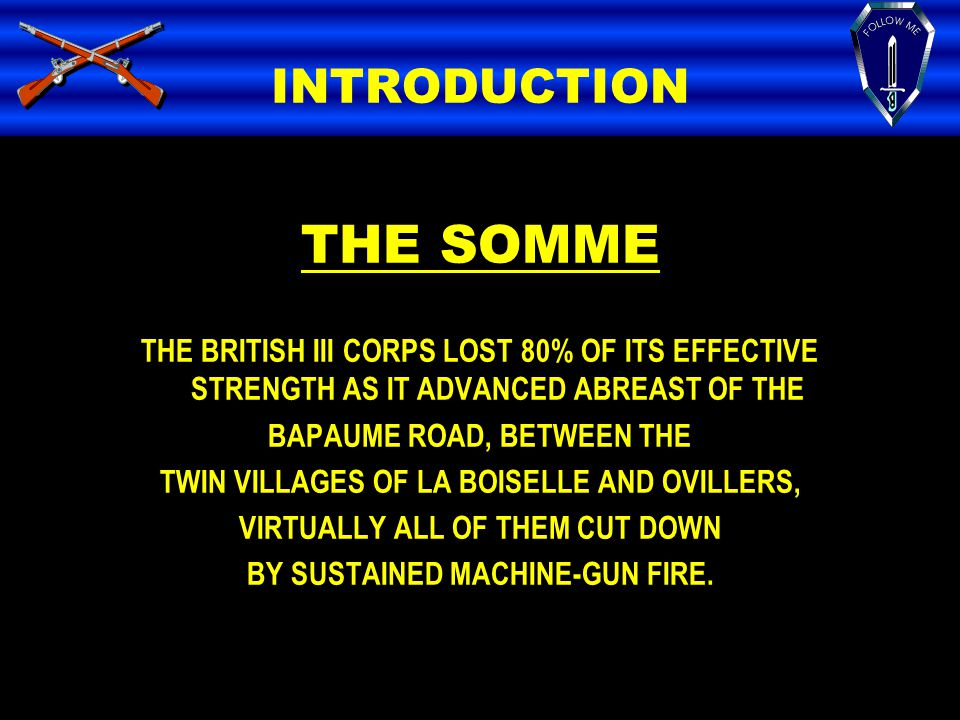 THE SOMME INTRODUCTION
