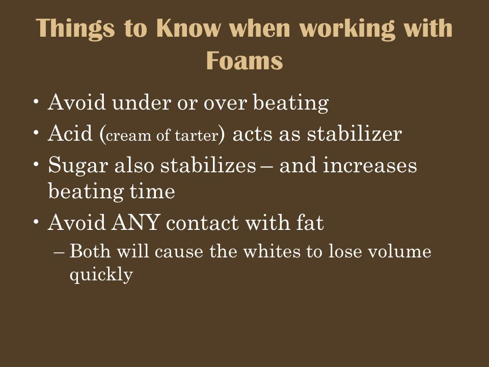 Things to Know when working with Foams