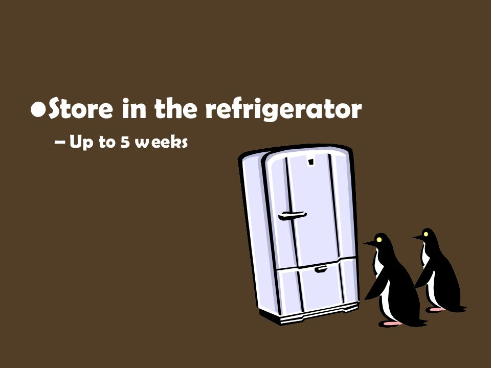 Store in the refrigerator