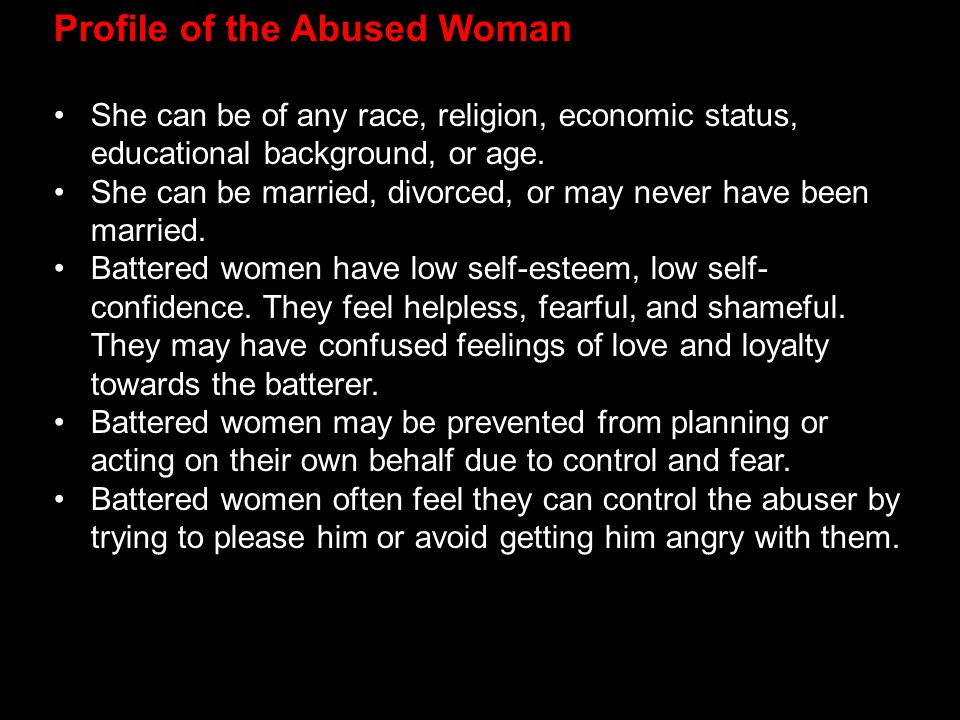 Profile of the Abused Woman