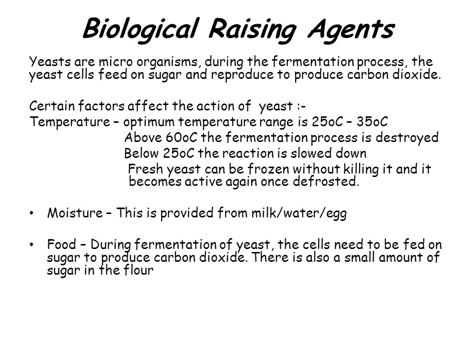 Biological Raising Agents