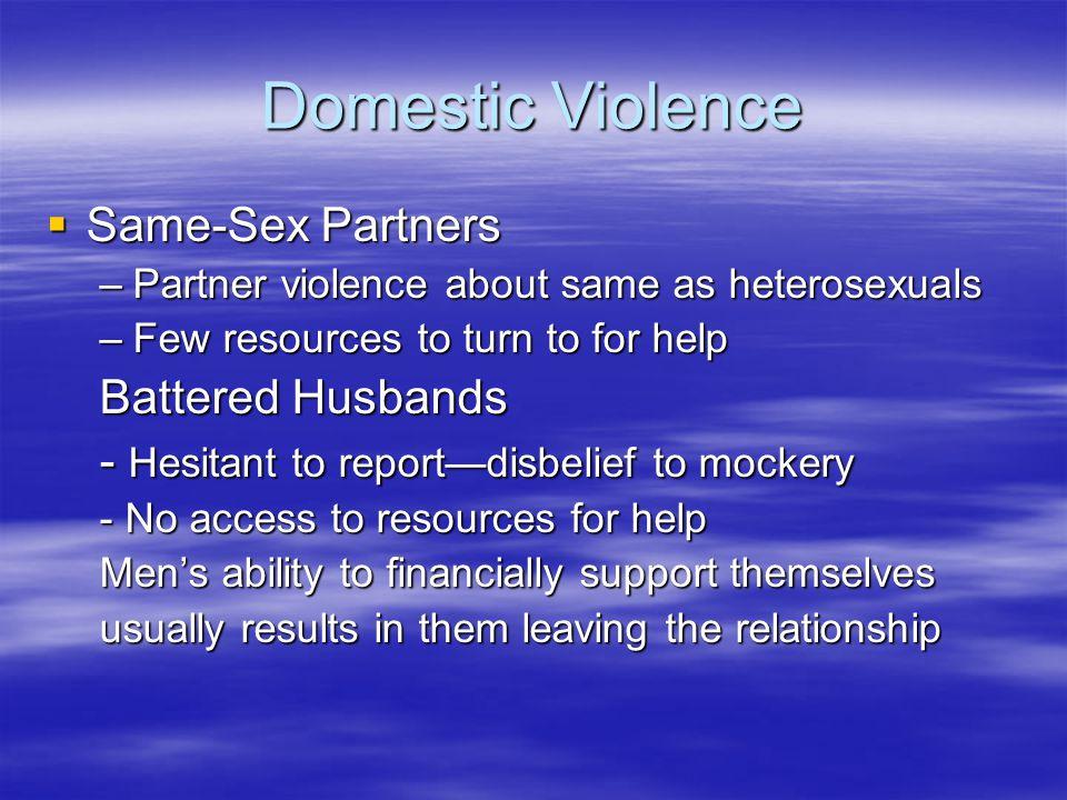Domestic Violence Same-Sex Partners Battered Husbands