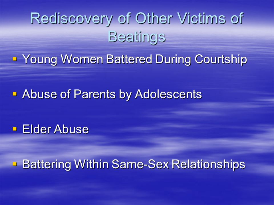 Rediscovery of Other Victims of Beatings
