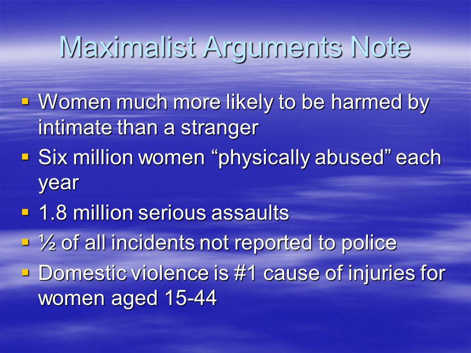 Maximalist Arguments Note