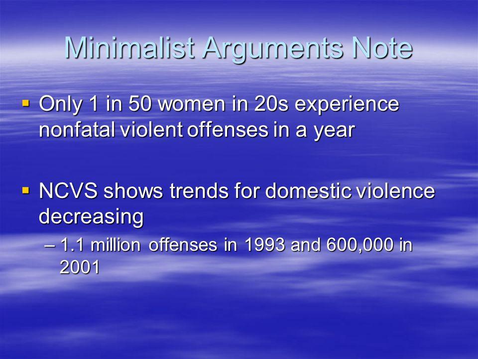 Minimalist Arguments Note