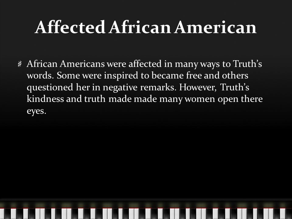 Affected African American