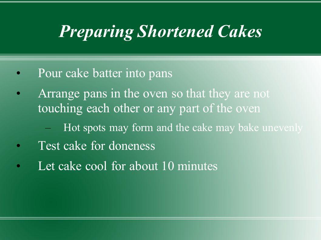 Preparing Shortened Cakes