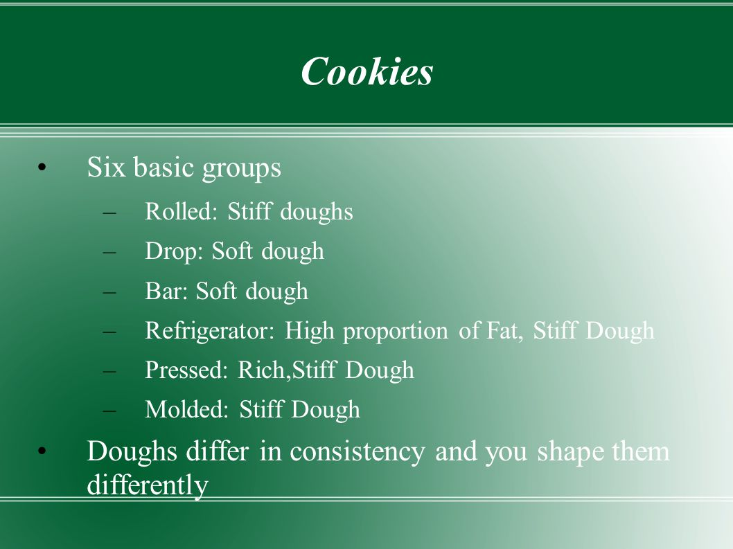 Cookies Six basic groups