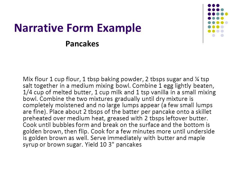 Narrative Form Example