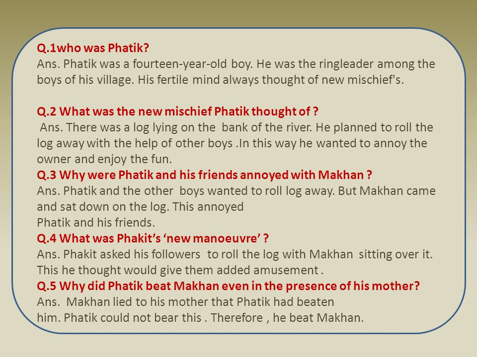 Q.1who was Phatik