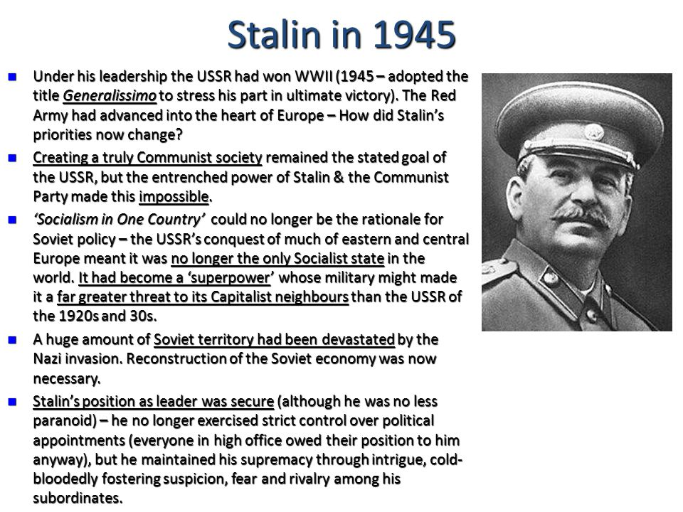 how far does stalin's position as