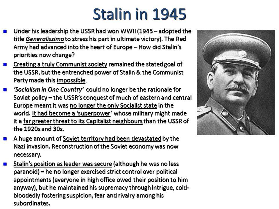 Stalin in 1945