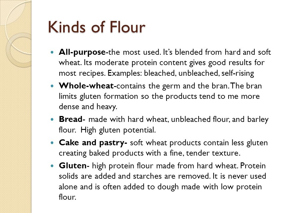Kinds of Flour
