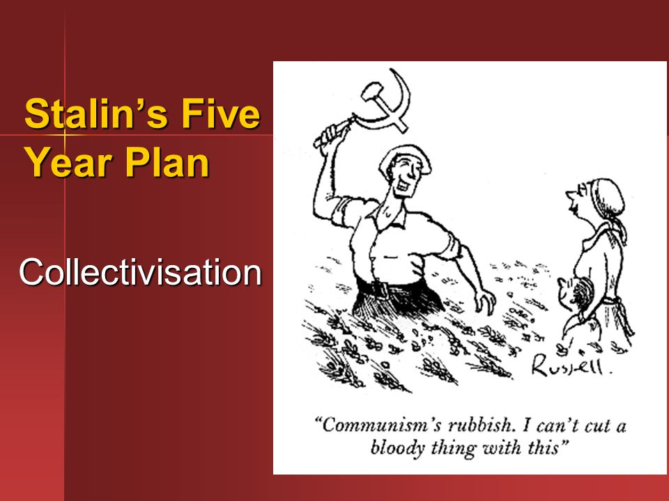 stalin s 5 year plan s J v stalin the results of the first five-year plan report delivered at the joint plenum of the central committee and the central control commission.