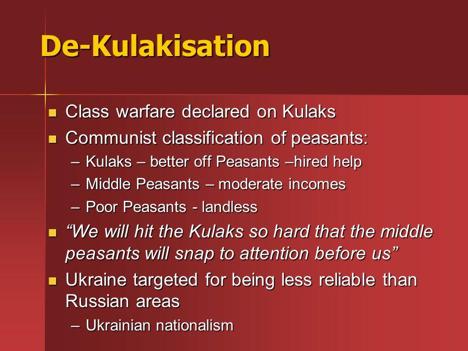 De-Kulakisation Class warfare declared on Kulaks