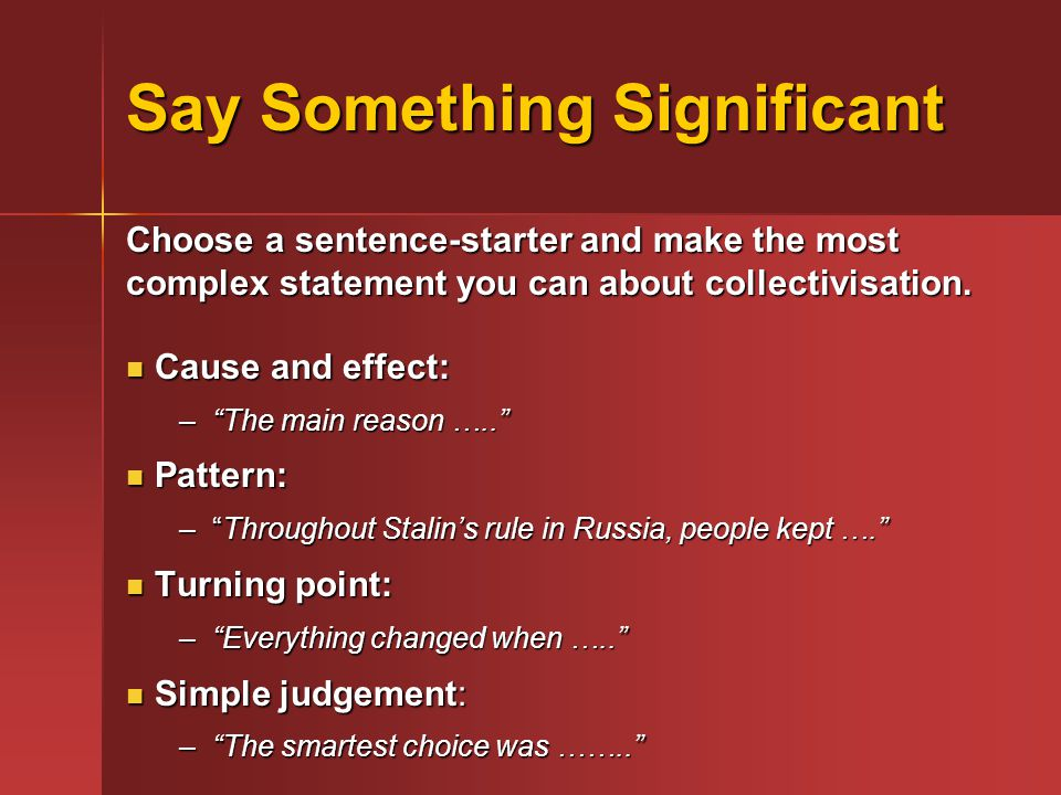 Say Something Significant