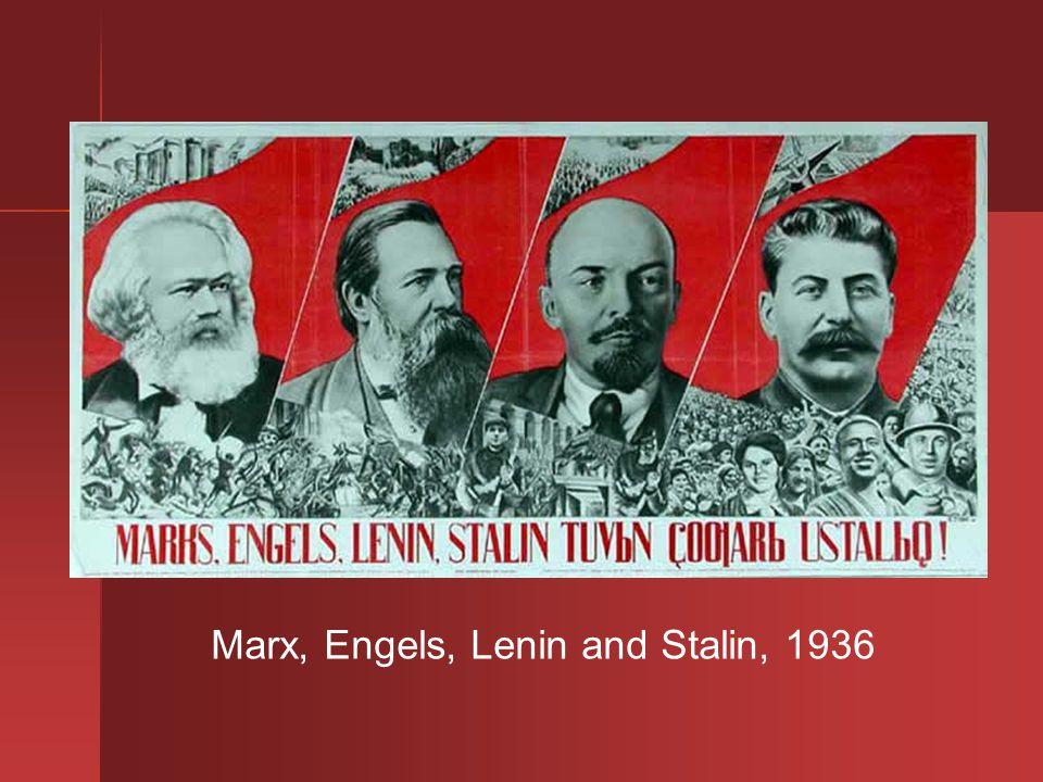 Marx, Engels, Lenin and Stalin, 1936