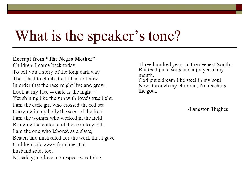 What is the speaker's tone