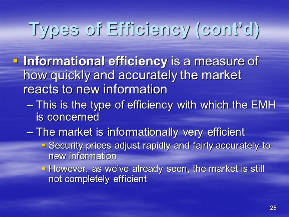 Types of Efficiency (cont'd)