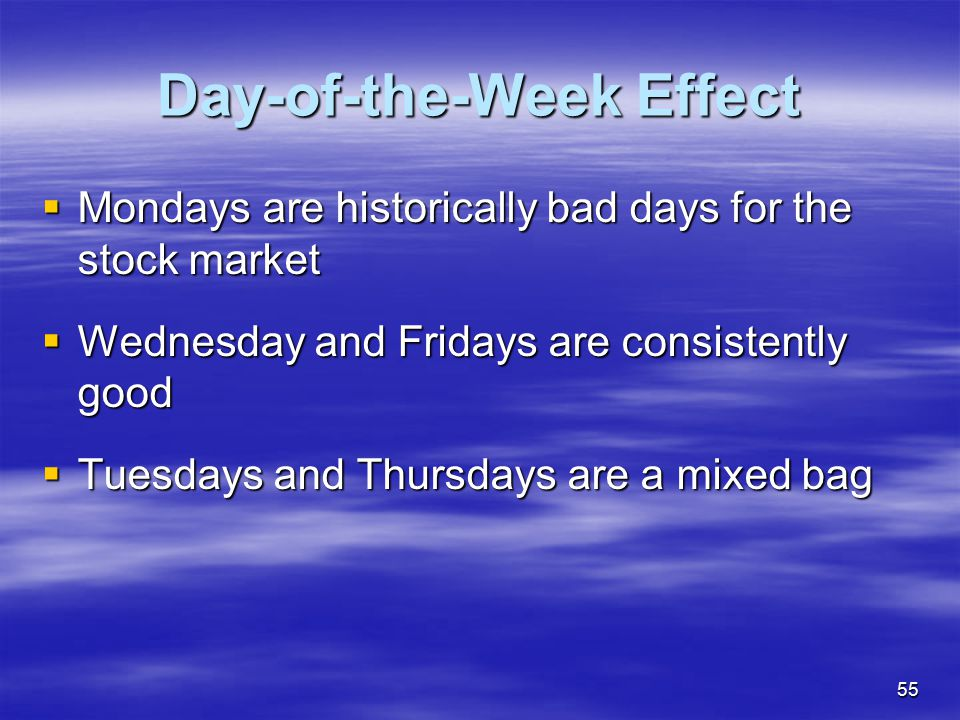 Day-of-the-Week Effect