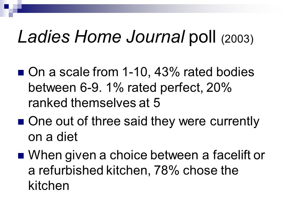 Ladies Home Journal poll (2003)