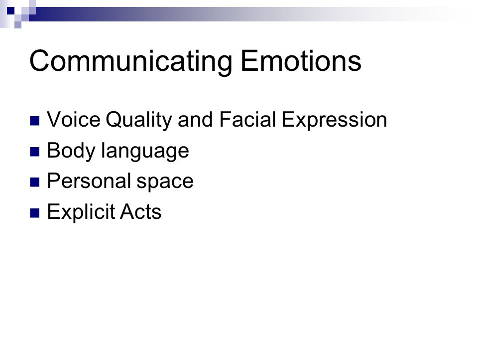 Communicating Emotions