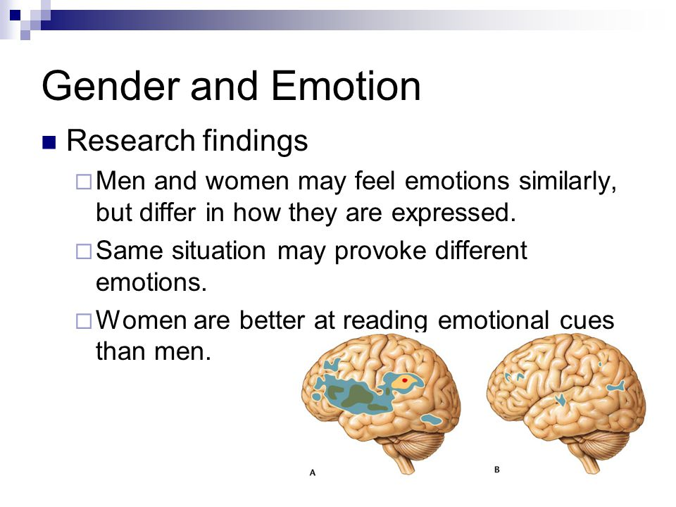 Gender and Emotion Research findings