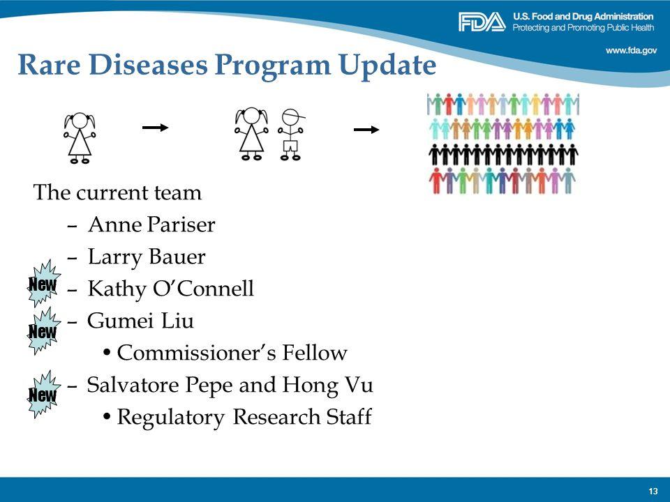 Rare Diseases Program Update