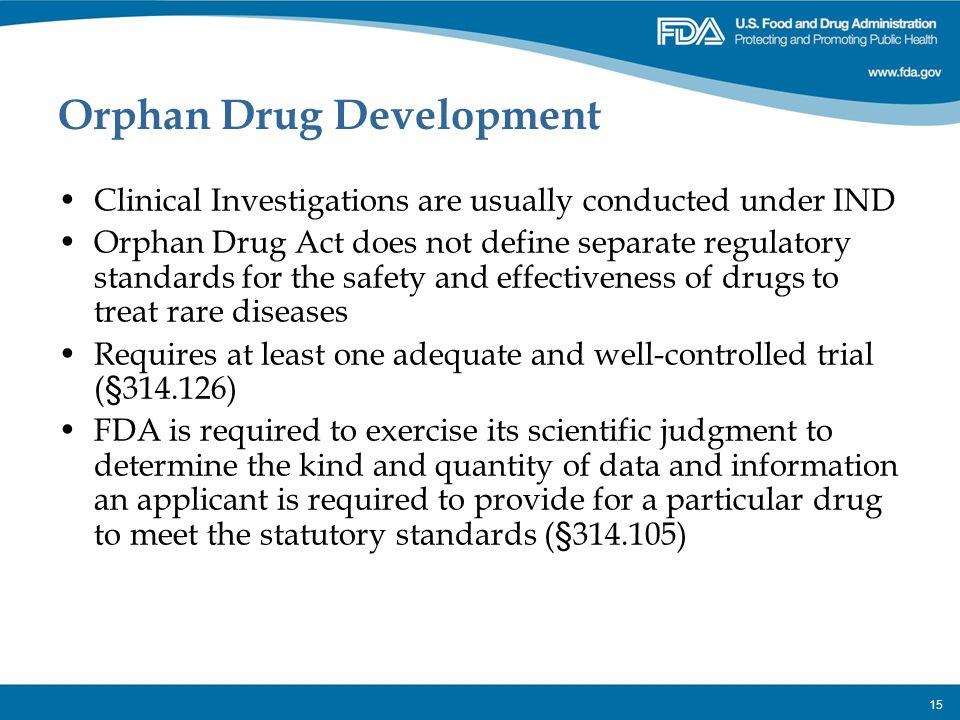 Orphan Drug Development