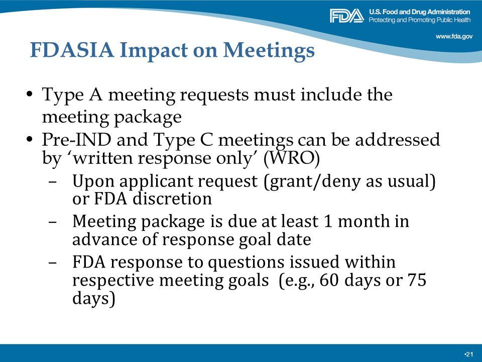 FDASIA Impact on Meetings
