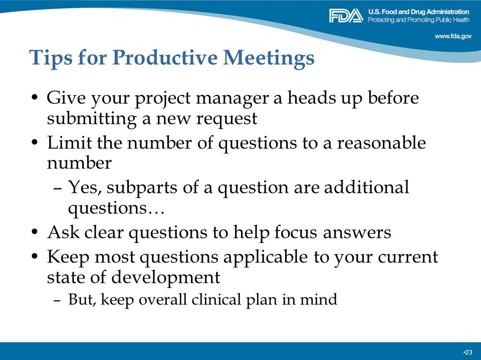 Tips for Productive Meetings
