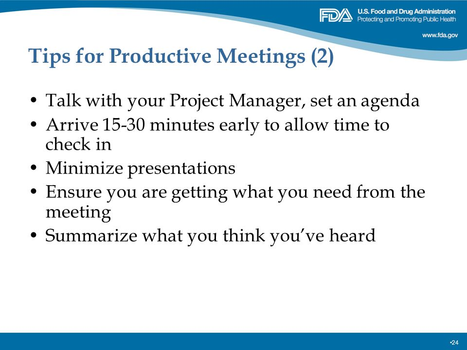 Tips for Productive Meetings (2)
