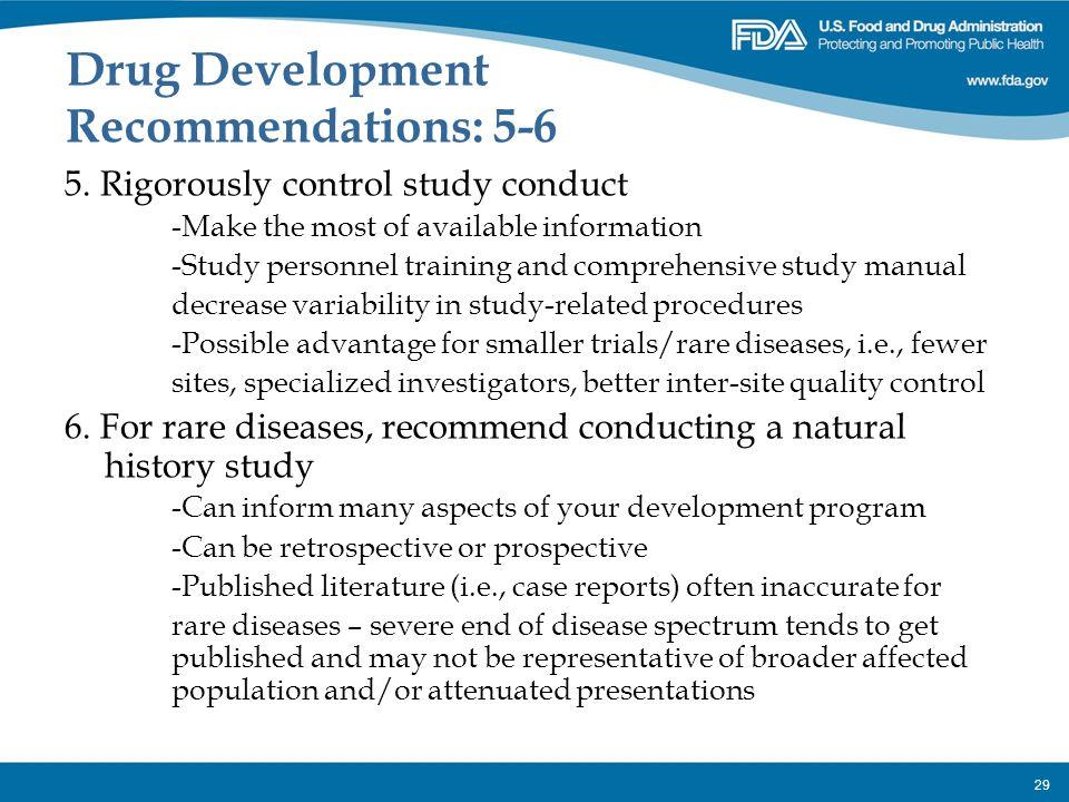 Drug Development Recommendations: 5-6