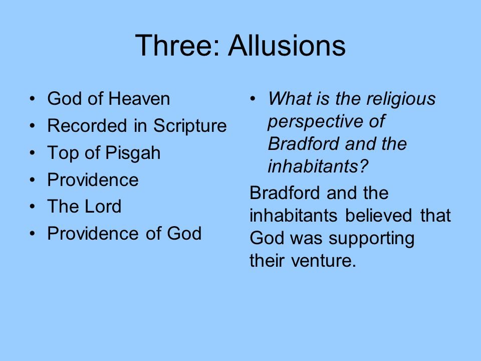 Three: Allusions God of Heaven Recorded in Scripture Top of Pisgah