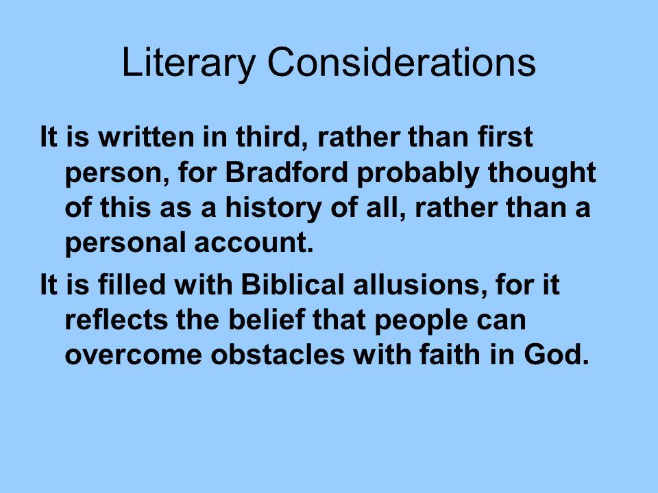 Literary Considerations