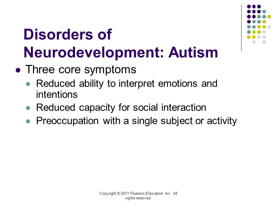 Disorders of Neurodevelopment: Autism