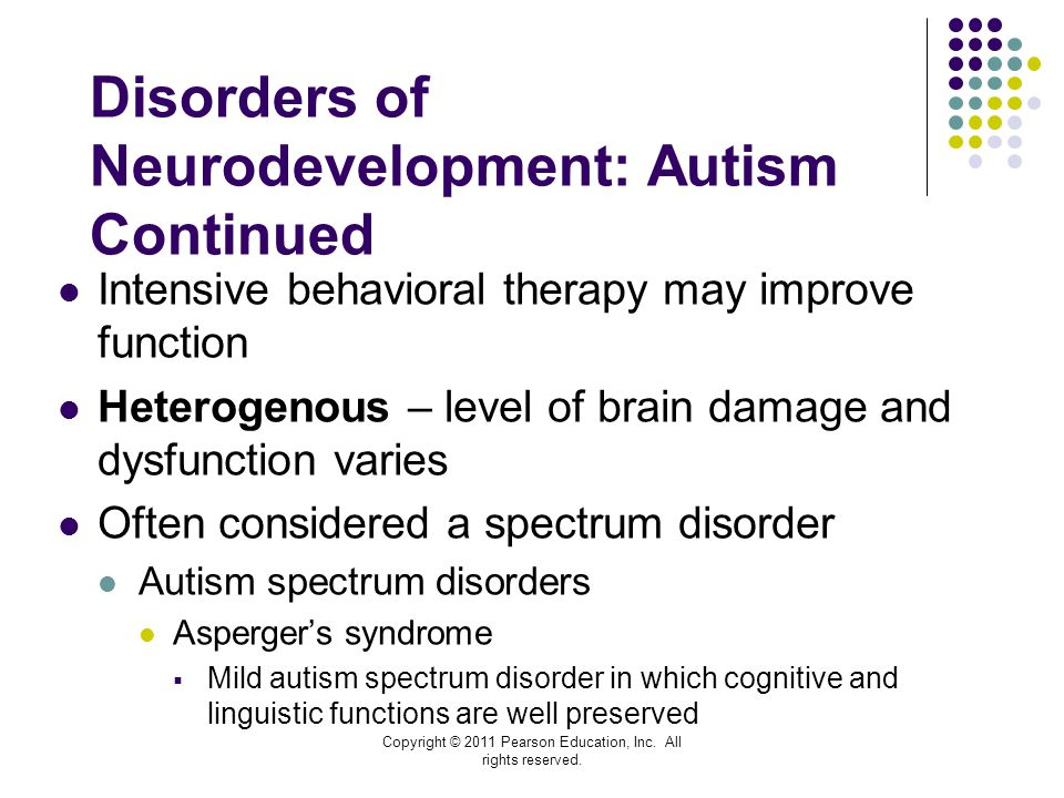 Disorders of Neurodevelopment: Autism Continued