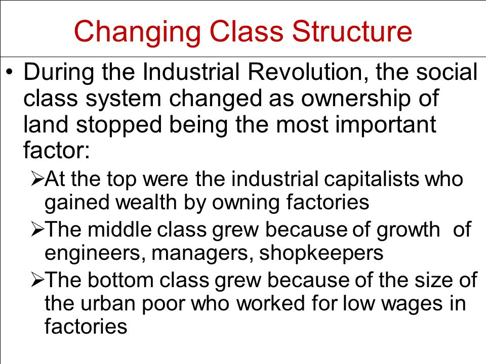 Changing Class Structure
