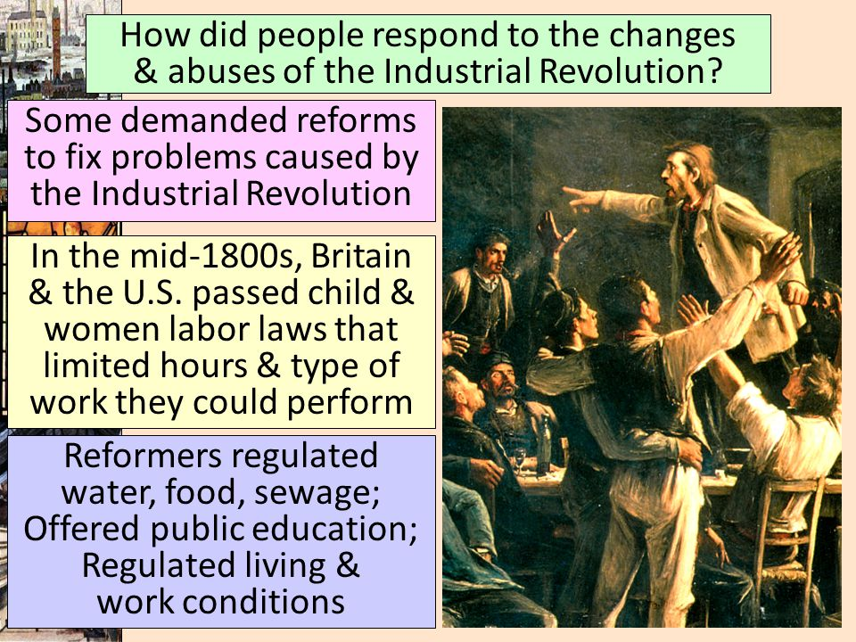 How did people respond to the changes & abuses of the Industrial Revolution