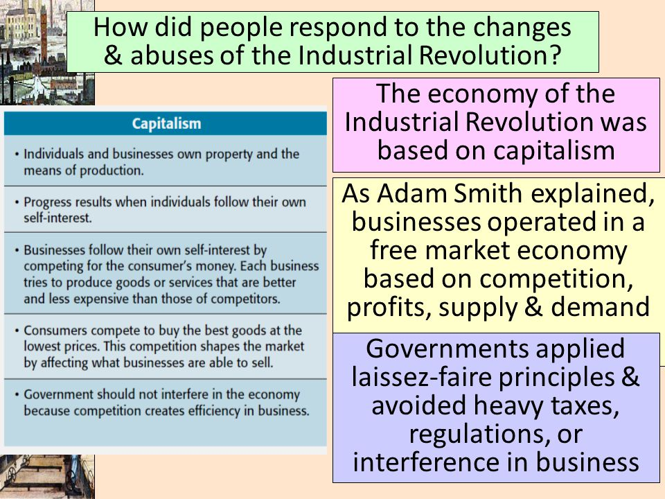 The economy of the Industrial Revolution was based on capitalism