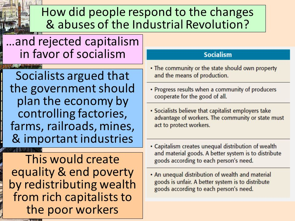 …and rejected capitalism in favor of socialism