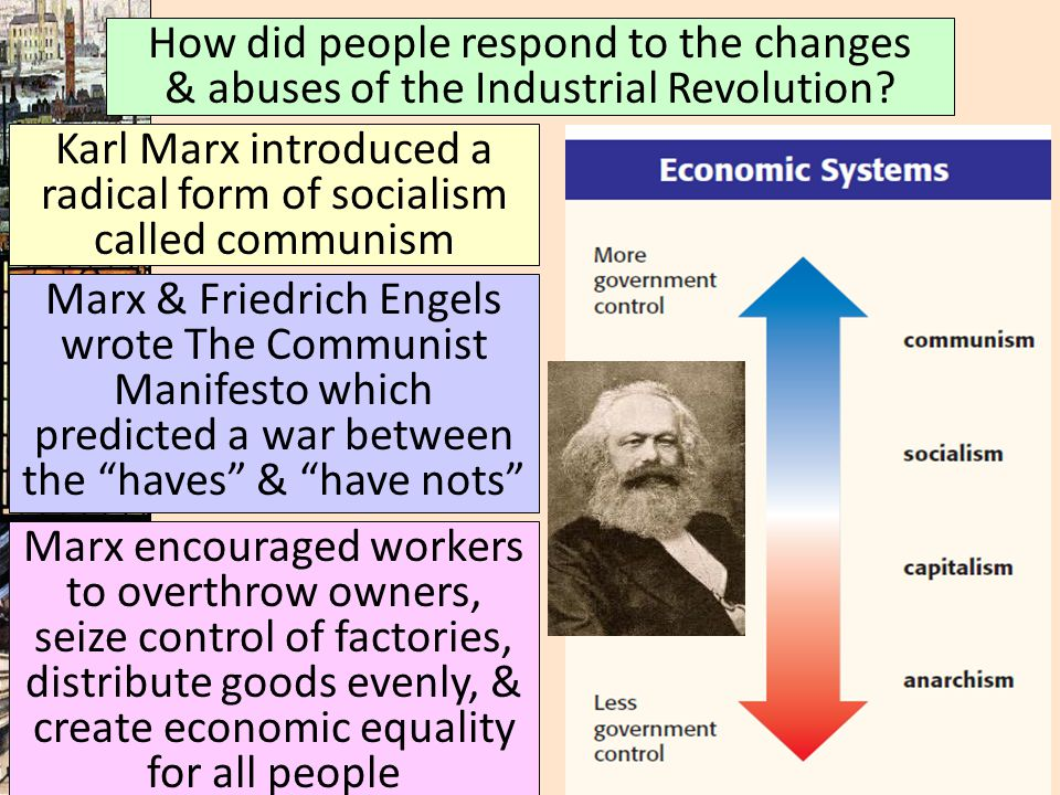 Karl Marx introduced a radical form of socialism called communism
