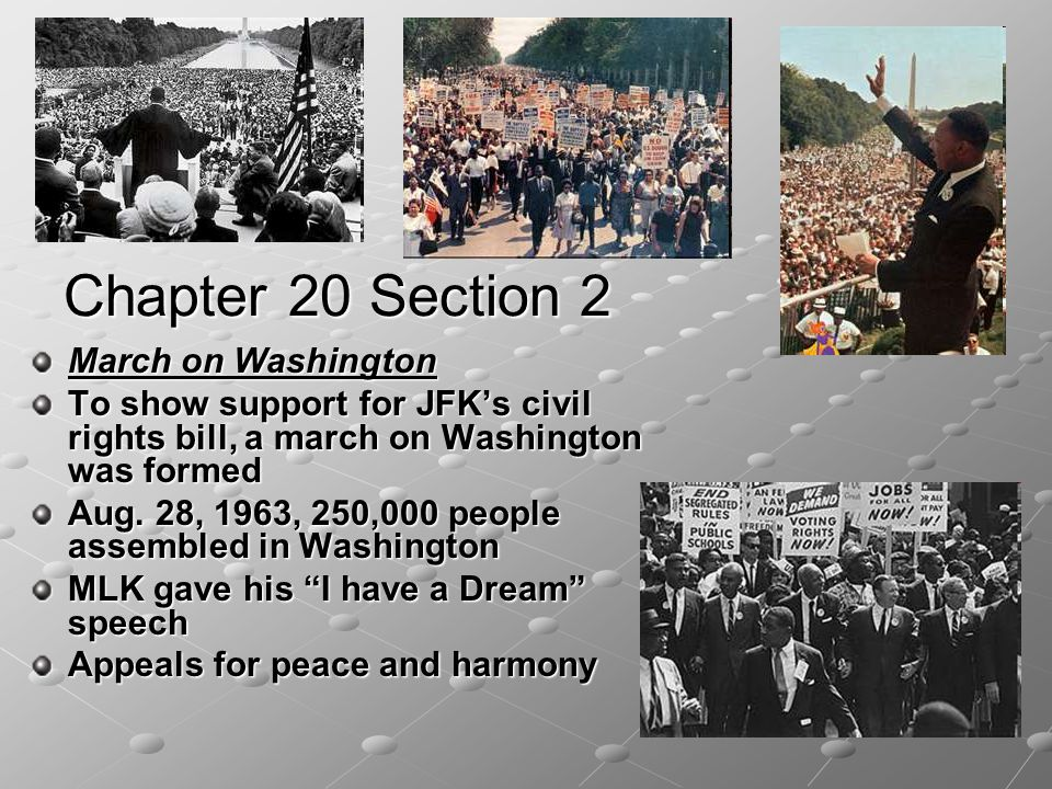 Chapter 20 Section 2 March on Washington