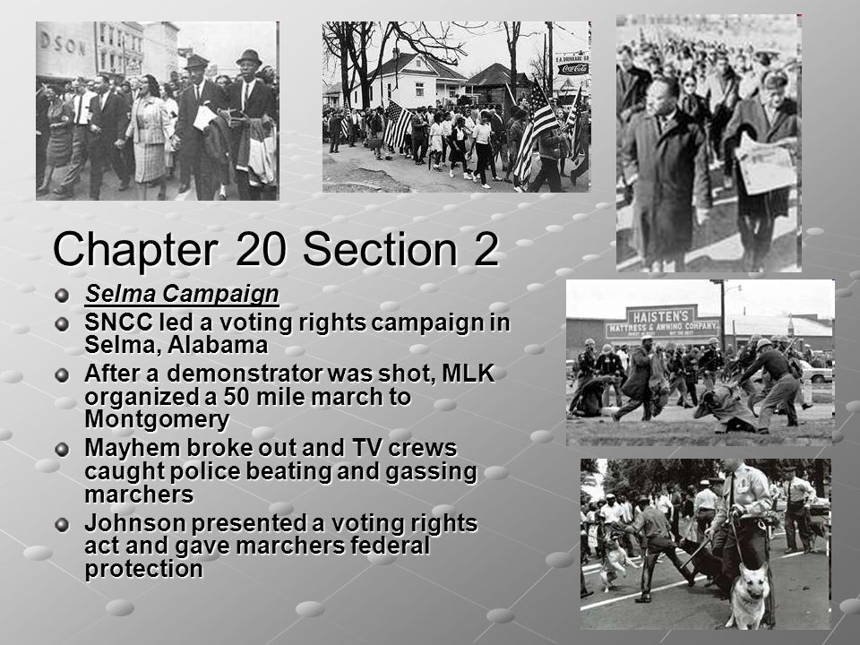Chapter 20 Section 2 Selma Campaign