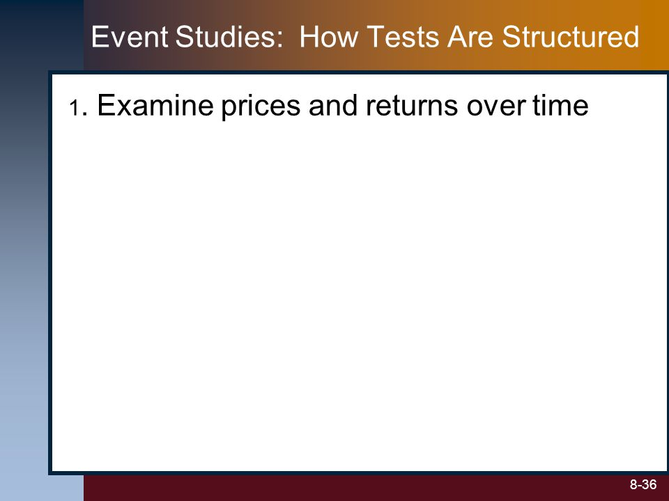 Event Studies: How Tests Are Structured